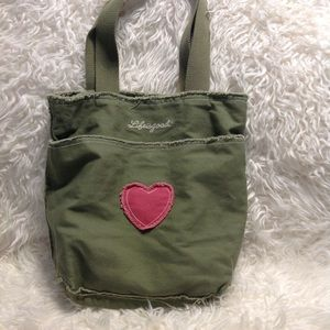 Life is a Good, army green, tote